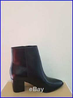 MICHAEL Michael Kors Dawson Mid Leather Pointed Toe Bootie Size 7 NIB
