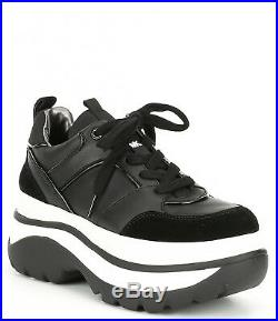 MICHAEL Michael Kors Felicia Trainer Platform Sneakers, Black, 7.5 US / 37.5 EU