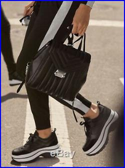 MICHAEL Michael Kors Felicia Trainer Platform Sneakers, Black, 8 US / 38 EU