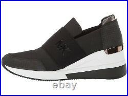 MICHAEL Michael Kors Felix Trainer Women's Sneakers Casual Shoes Wedge Black