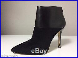 MICHAEL Michael Kors Freya Leather/Suede Black Dress Ankle Booties Size 10
