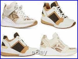 MICHAEL Michael Kors GEORGIE Trainer Wedge Sneakers Shoes US 7.0, 7.5, 8.0, 8.5