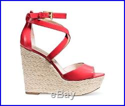 MICHAEL Michael Kors Gabriella Platform Wedge Watermelon Sandals Shoes Mult Sz