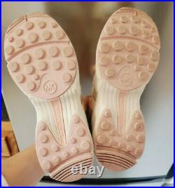 MICHAEL Michael Kors Hero Trainer Wedge Sneakers Casual Shoes Pink Sz 8 7.5