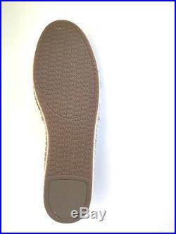 MICHAEL Michael Kors'KENDRICK' Leather/Espadrille Flats OYSTER Sz. 9M NIB