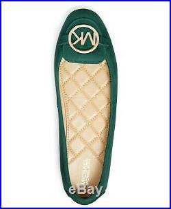 MICHAEL Michael Kors Lillie Moccasin Flats Shoes Dark Atlantic Size 7