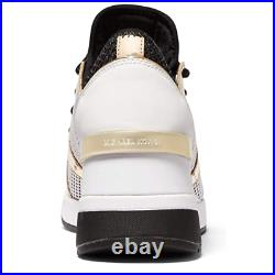 MICHAEL Michael Kors Liv Trainer Wedge Sneakers Women's Casual Shoes Black Gold