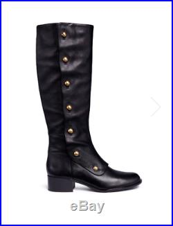 MICHAEL Michael Kors Maisie Flat Knee-High Boots, Black Leather Size 11 NEW $279