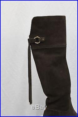 MICHAEL Michael Kors RHEA Chocolate Tassel Over The Knee Suede MSRP $285 NEW