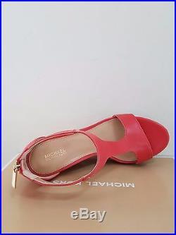 MICHAEL Michael Kors Women's Espadrille Leather Wedge Sandal Size 8.5 NIB