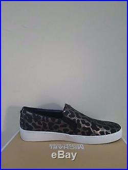 MICHAEL Michael Kors Women's Keaton Slip On Embossed Leath Sneakers Size 8.5 NIB