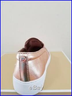 MICHAEL Michael Kors Women's Keaton Slip On Metallic Sneakers Size 6.5 NIB