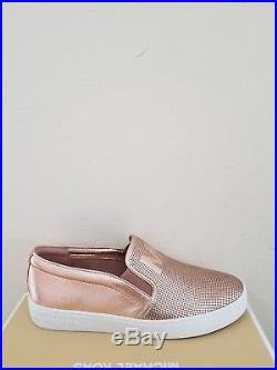 MICHAEL Michael Kors Women's Keaton Slip On Metallic Sneakers Size 7 NIB