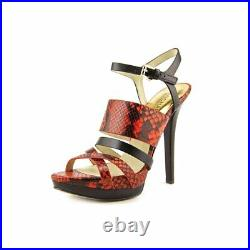 MICHAEL Michael Kors Women's Nadja Platform Sandals Shoes Mandarin/Black 9.5