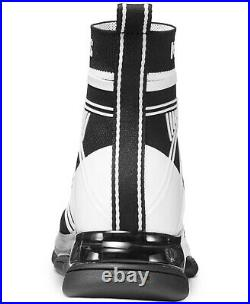 MICHAEL Michael Kors Women's Shoes Kendra Booties Textile Black & White 9.5M