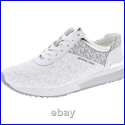MICHAEL Michael Kors Womens Allie White Trainers Shoes 10 Medium (B, M) BHFO 9842