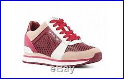 MICHAEL Michael Kors Womens Billie Trainer Lasered Leather Fashion Sneakers NIB