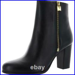 MICHAEL Michael Kors Womens Black Ankle Boots Shoes 8 Medium (B, M) BHFO 7090