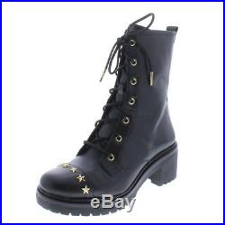 MICHAEL Michael Kors Womens Cody Black Combat Boots 7 Medium (B, M) BHFO 9288