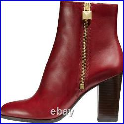 MICHAEL Michael Kors Womens Frenchie Leather Ankle Heels Booties Shoes BHFO 8564