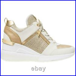 MICHAEL Michael Kors Womens Georgie Metallic Fashion Sneakers Shoes BHFO 2409