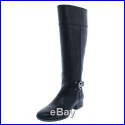 MICHAEL Michael Kors Womens Harland Black Riding Boots 8.5 Medium (B, M) 2533