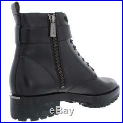 MICHAEL Michael Kors Womens Ryder Leather Ankle Combat Boots Shoes BHFO 0042