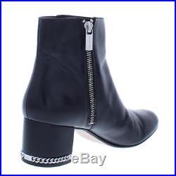 MICHAEL Michael Kors Womens Sabrina Black Ankle Boots 8.5 Medium (B, M) BHFO 2459