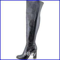 MICHAEL Michael Kors Womens Sabrina Leather Closed Toe Over Knee Fashion Boots