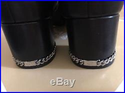 MICHAEL Michael Kors Womens Sabrina mid bootie Leather, Black Leather, Size 9.0