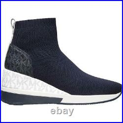 MICHAEL Michael Kors Womens Skyler Navy Sock Boot Shoes 6 Medium (B, M) BHFO 0444