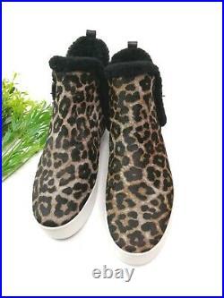 MICHAEL Michael kors shearling line Leopard print SHOES Size 9M Women's $ 352