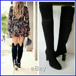 MK Michael Kors Womens Tall Suede Over the Knee Boots Black Regina size39 9 $298