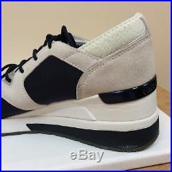MK Michael Kors navy/beige/silver wedge heel trainers, UK 6/EU 39, VGC