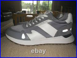 Mens Michael Kors Sneakers Miles Grey Shoes 10.5 Retro Street Trainer NEW