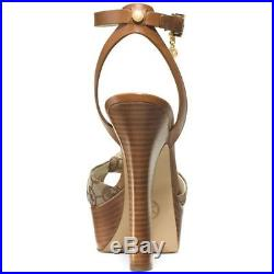 Michael KORS BENJI ICONIC CHARM MK CANVAS SEXY PLATFORM RUCHED SHOES LOVE SHOES