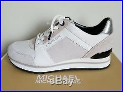 Michael KORS BILLIE Optic White Logo Trainer Sneakers US 6.5 I LOVE SHOES