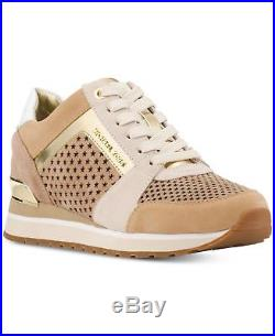 Michael KORS BILLIE STAR PERFORATED BEIGE GOLD Sexy Logo Sneakers I LOVE SHOES