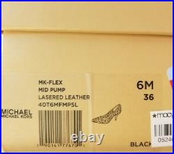 Michael KORS FLEX DOROTHY BLACK LASERED CUT OUT POINTY TOE PUMPS 6 I LOVE SHOES