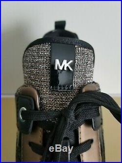 Michael KORS GEORGIE MK LOGO BLACK BRONZE SILVER TRAINER SNEAKERS I LOVE SHOES