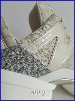 Michael KORS OLYMPIA MK Logo Natural Platform Dad Sneakers US 11 I LOVE SHOES