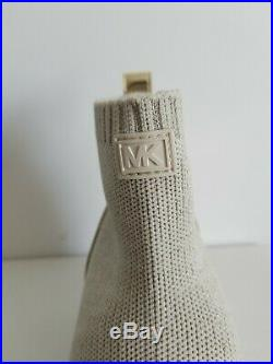 Michael KORS SKYLER GOLD Stretch Logo Crystals WEDGE Sneakers US 6 I LOVE SHOES