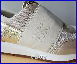 Michael KORS TRAINER MESH MK GOLD CREAM ELASTIC Pull On Sneakers I LOVE SHOES