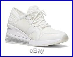 Michael Kors $165 Sneakers 8.5 White Shoes MK Liv Trainer NIB