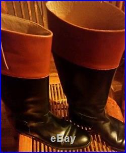 Michael Kors 2tone riding boots 8.5
