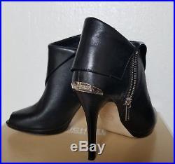 Michael Kors 9M Kendra open toe heel shoe boot, black, only 1x use
