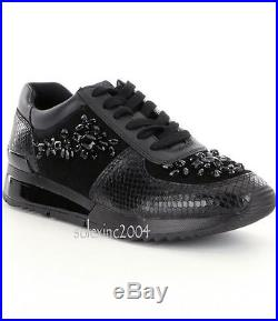 Michael Kors ALLIE Black Wrap Trainer Athletic Sneakers Shoes Multi Size NIB