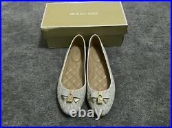 Michael Kors Alice Logo Ballet Flat Shoes Vanilla Size UK 6 Brand New