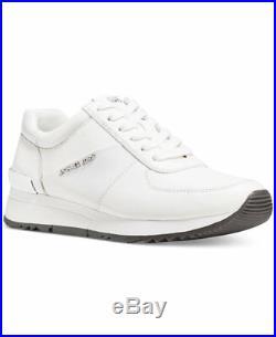 Michael Kors Allie Leather Sneakers Black Optic White
