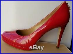 Michael Kors Antoinette Gold Padlock Mk Logo Round Toe Pumps I Love Shoes